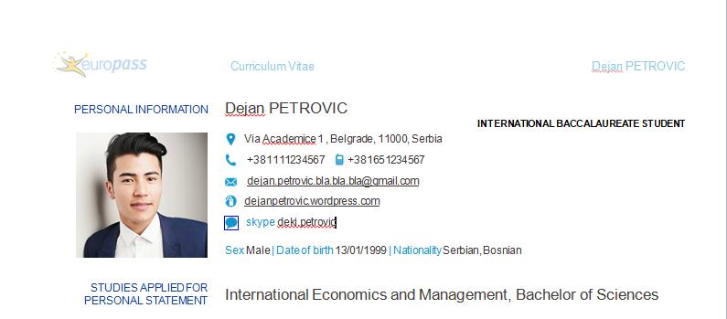 Najbolji Cv Za Studije U Inostranstvu Viacademica