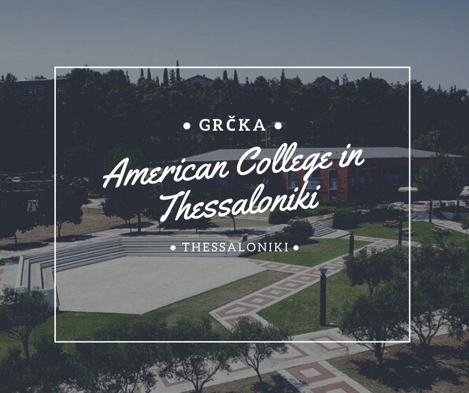 American College in Thessaloniki – ACT Via Academica studije i stipendije u grčkoj solun