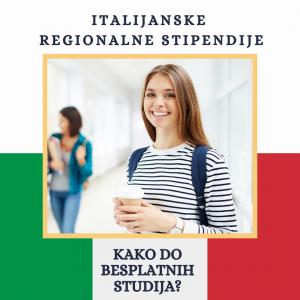 Regionalne stipendije Italije Via Academica Studije u inostranstvu